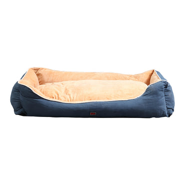 PaWz Deluxe Soft Pet Bed Mattress with Removable Cover Size XX Large in Blue Colour