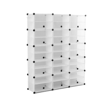 Cube Cabinet Shoe Storage Cabinet Organiser Shelf Stackable DIY 10 Tier 3 Column