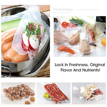 3x Vacuum Food Sealer Bag Bags Foodsaver Storage Saver Seal Commercial Heat Roll