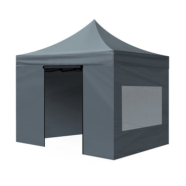Mountview Gazebo Tent 3x3 Outdoor Marquee Gazebos Camping Canopy Mesh Side Wall
