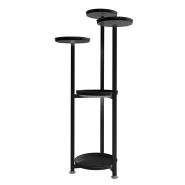 Levede Plant Stand Outdoor Indoor Flower Pots Rack Garden Shelf Black 120CM