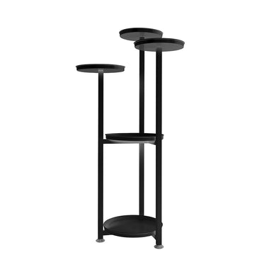 Levede Plant Stand Outdoor Indoor Flower Pots Rack Garden Shelf Black 100CM