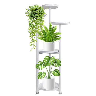 Levede Plant Stand Outdoor Indoor Flower Pots Rack Garden Shelf White 120CM
