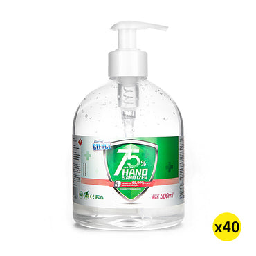 Cleace 40x Hand Sanitiser Sanitizer Instant Gel Wash 75% Alcohol 500ML