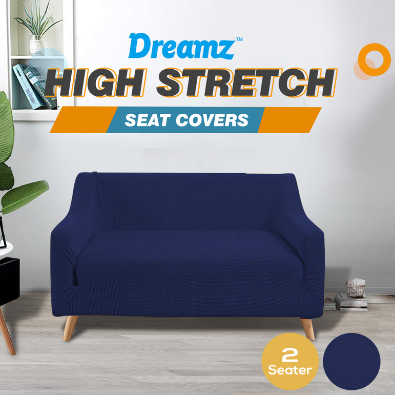 DreamZ Couch Stretch Sofa Lounge Cover Protector Slipcover 2 Seater Navy