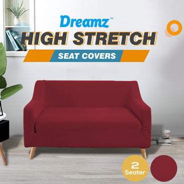 DreamZ Couch Stretch Sofa Lounge Cover Protector Slipcover 2 Seater Wine