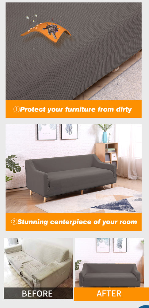 DreamZ Couch Stretch Sofa Lounge Cover Protector Slipcover 4 Seater Chocolate