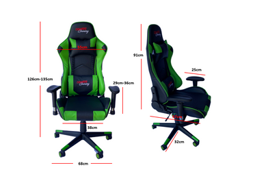 RAYDUS Gaming Racer Chair Green
