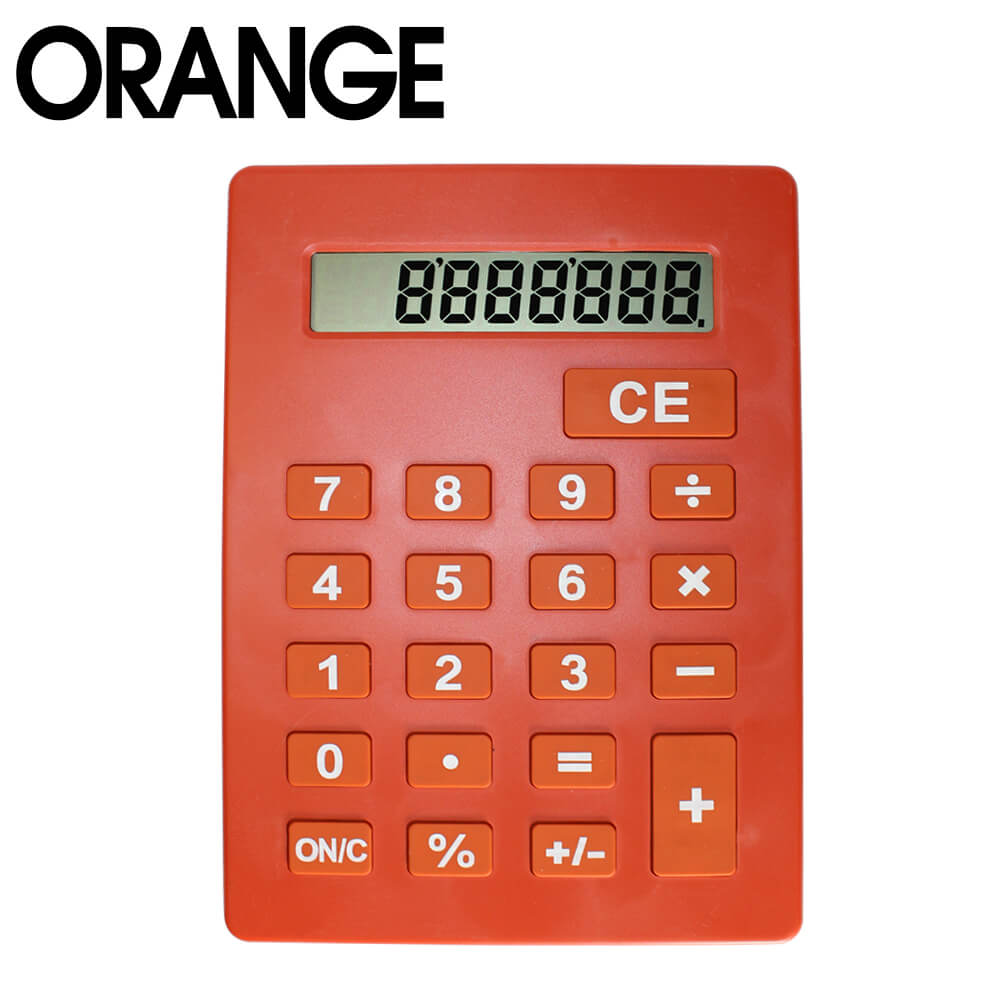 Jumbo Calculator Large Size Display Home Office Desktop Big Buttons Orange