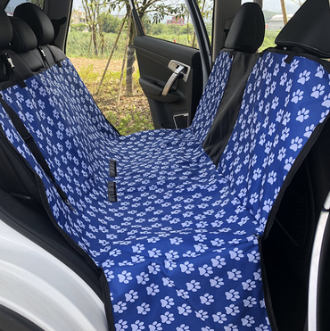 Soft Scratch Proof Nonslip Pet Hammock Car Seat Protector Blue