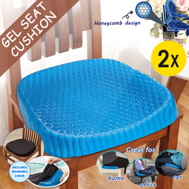 Gel Honeycomb Seat Cushion Flex Back Support Spine Breathable Protector Pad Mats
