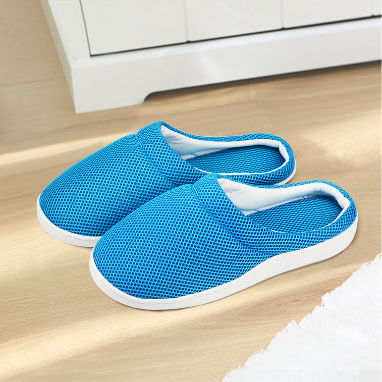 Summer Women Men Bamboo Cooling Gel Slippers Anti-faigue Sandals Shoes Size L