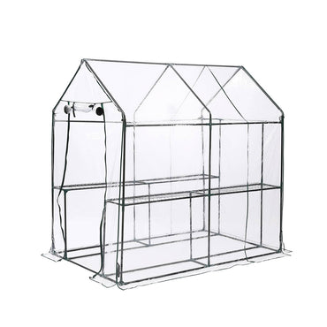 2 Tier Walk In Greenhouse Garden Shed PVC Cover Film Tunnel Green House Plant