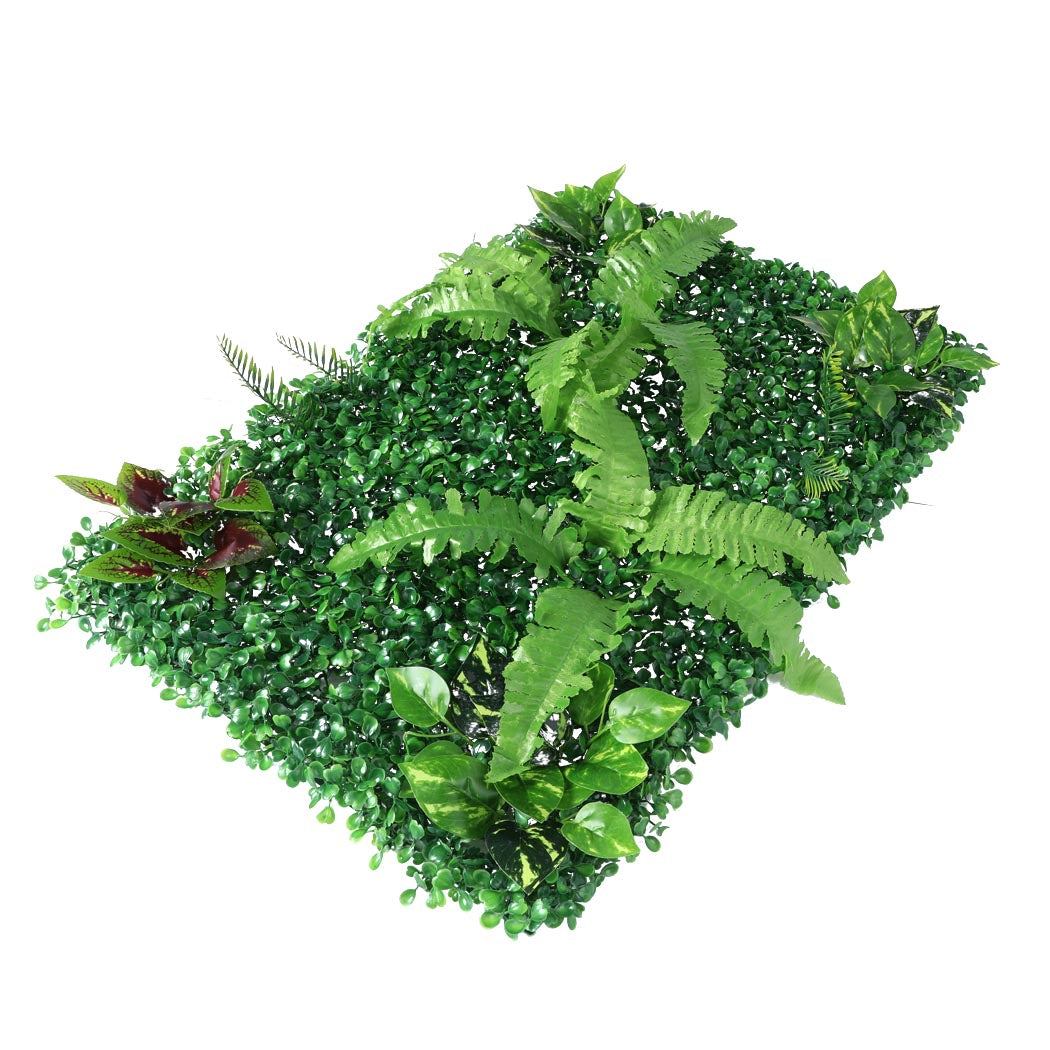 4 x Artificial Hedge Grass Plant Hedge Fake Vertical Garden Green Wall Ivy Mat Fence