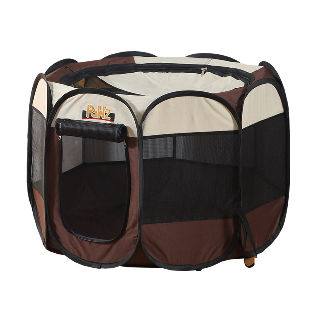PaWz Dog Playpen Pet Play Pens Foldable Panel Tent Cage Portable Puppy Crate 48