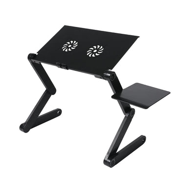 Foldable Laptop Desk Adjustable Stand Sofa Table Tray Mouse Board Portable Riser