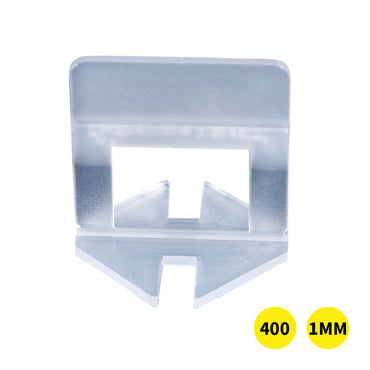 400x 1MM Tile Leveling System Clips Levelling Spacer Tiling Tool Floor Wall