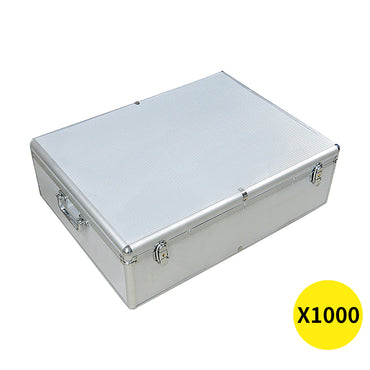 1000 Discs Aluminium CD DVD Cases Bluray Lock Storage Box Organizer Free Inserts