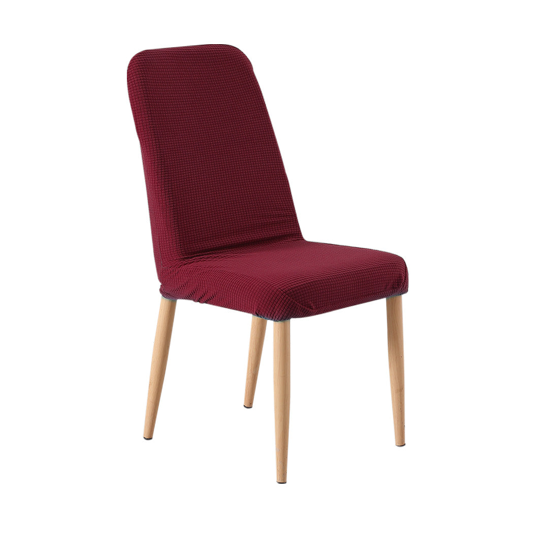 2x Dining Chair Covers Spandex Cover Removable Slipcover Banquet Party Burgundy