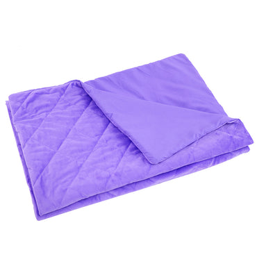 DreamZ 121x91cm Anti Anxiety Weighted Blanket Blankets Bamboo Cover Only Purple