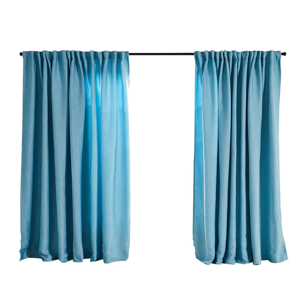 2X Blockout Curtains Curtain Living Room Window Blue 180CM x 230CM