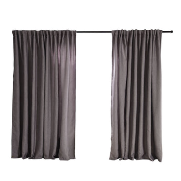 2X Blockout Curtains Curtain Living Room Window Grey 180CM x 230CM