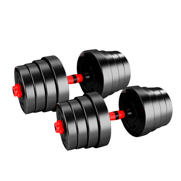 Dumbbells Barbell Weight Set 30KG Adjustable Rubber Home GYM Exercise Fitness