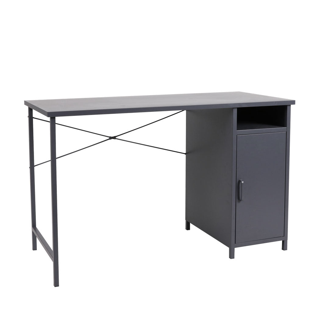 Office Computer Desks Metal Laptop Study Table Home Storage Workstation Shelf