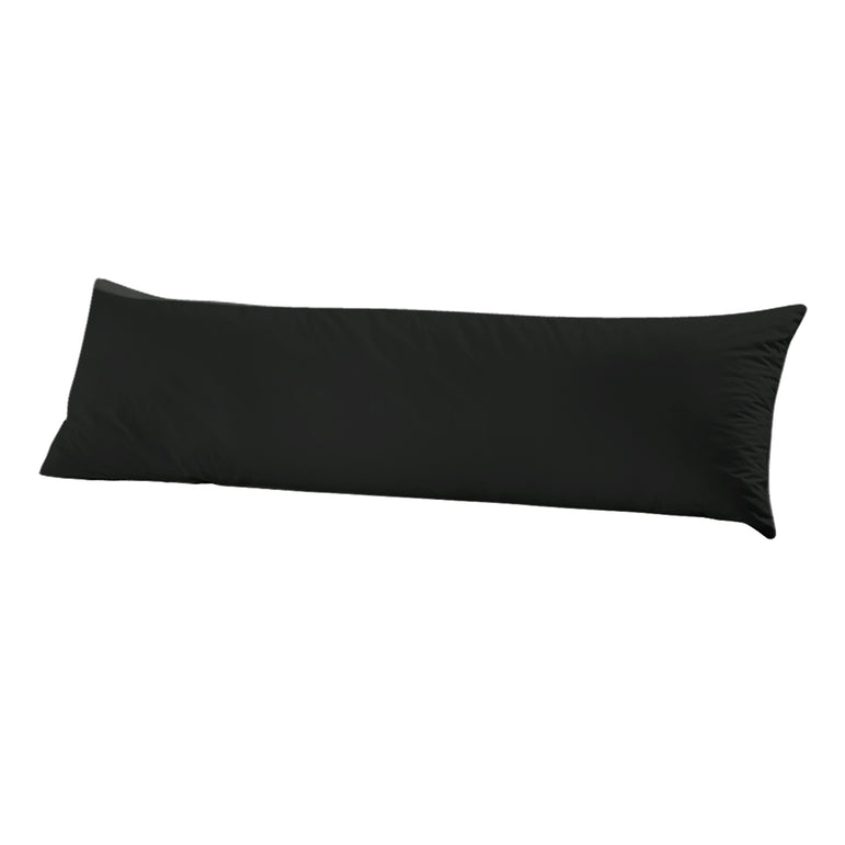 DreamZ Body Full Long Pillow Luxury Slip Cotton Maternity Pregnancy 150cm Black