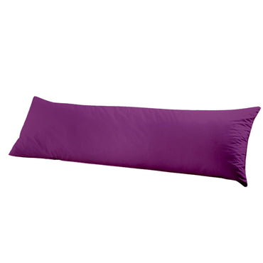 DreamZ Body Full Long Pillow Luxury Slip Cotton Maternity Pregnancy 137cm Plum