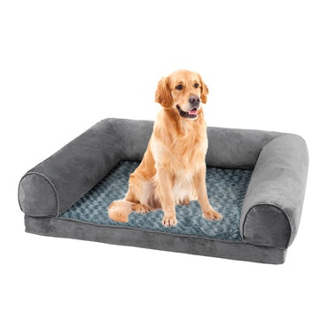 Pet Bed Sofa Dog Beds Bedding Soft Warm Mattress Cushion Pillow Mat Plush  L