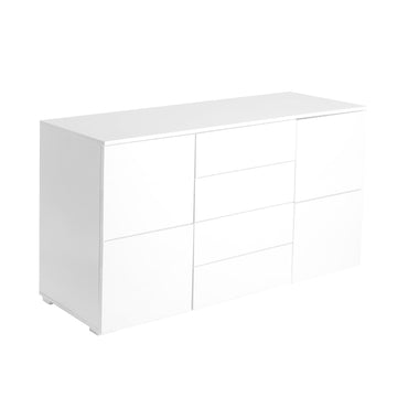 Levede Buffet Sideboard Cabinet Storage Modern High Gloss Cupboard Drawers White 150cm