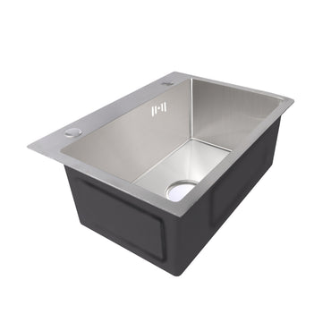 Stainless Steel Kitchen Sink Under/Topmount Sinks Laundry Single Bowl 550 X400MM