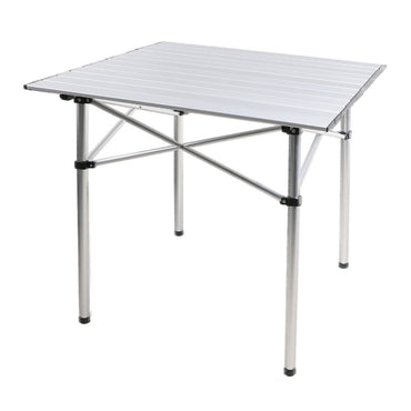 Roll Up Camping Table  Folding Portable Aluminium Outdoor BBQ Desk Picnic Tables