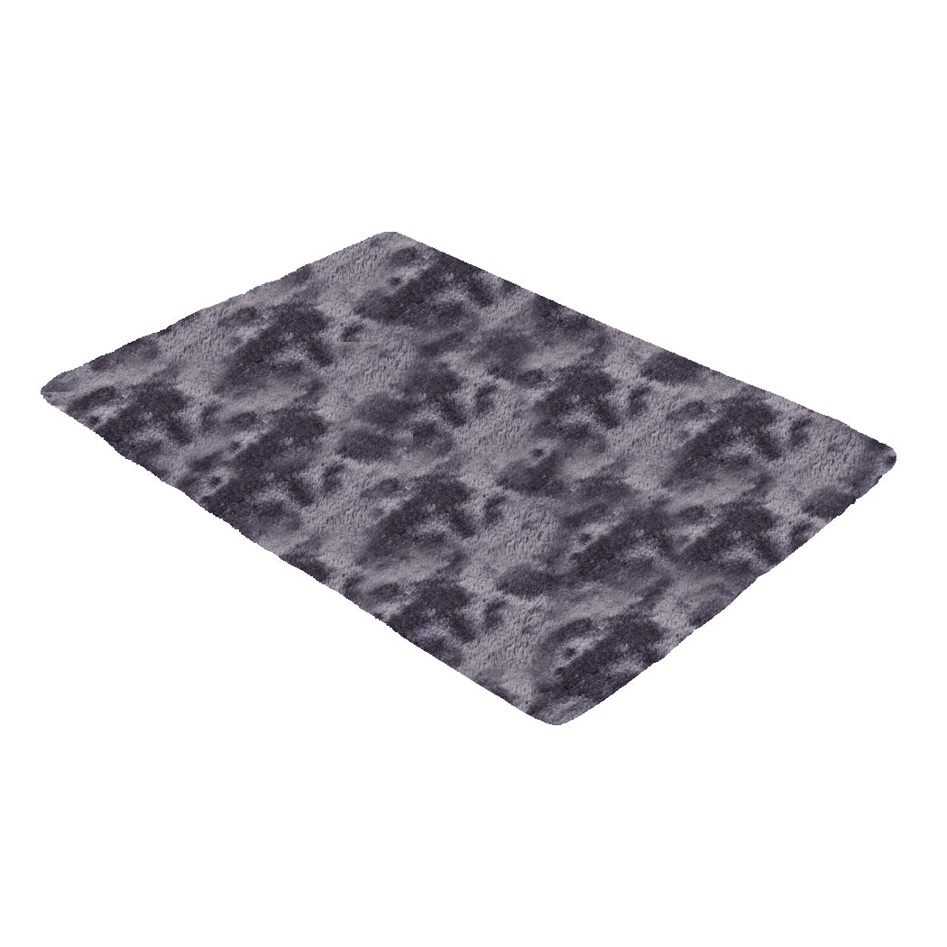 Floor Rug Shaggy Rugs Soft Large Carpet Area Tie-dyed Midnight City 120x160cm