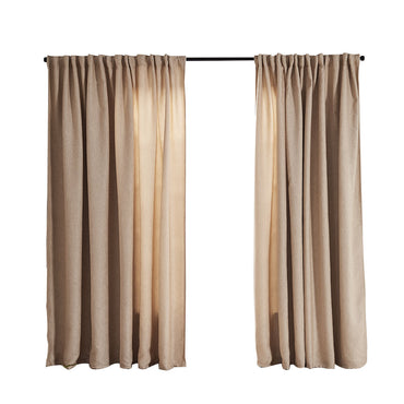 2X Blockout Curtains Curtain Living Room Window Buff 132CM x 213CM