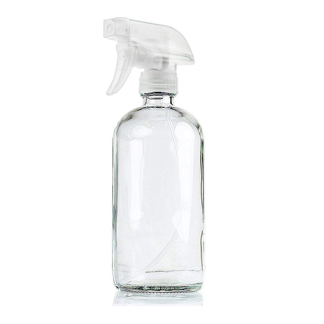 4x 500ml Clear Glass Spray Bottles Trigger Water Sprayer Aromatherapy Dispenser