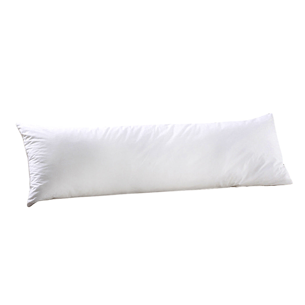 DreamZ Body Full Long Pillow Luxury Slip Cotton Maternity Pregnancy 137cm White