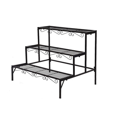 2x Levede Plant Stands Outdoor Indoor Garden Metal 3 Tier Planter Corner Shelf