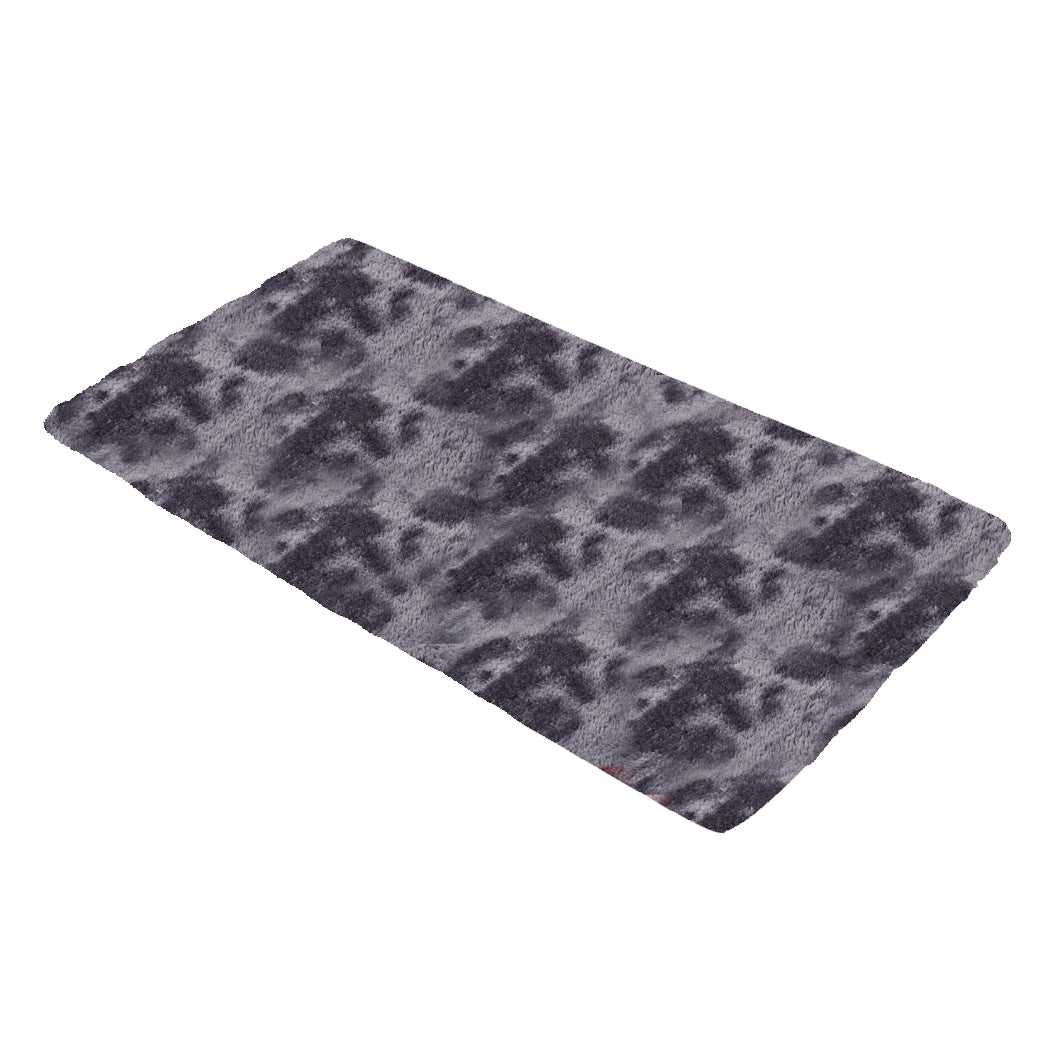 Floor Rug Shaggy Rugs Soft Large Carpet Area Tie-dyed Midnight City 80x120cm