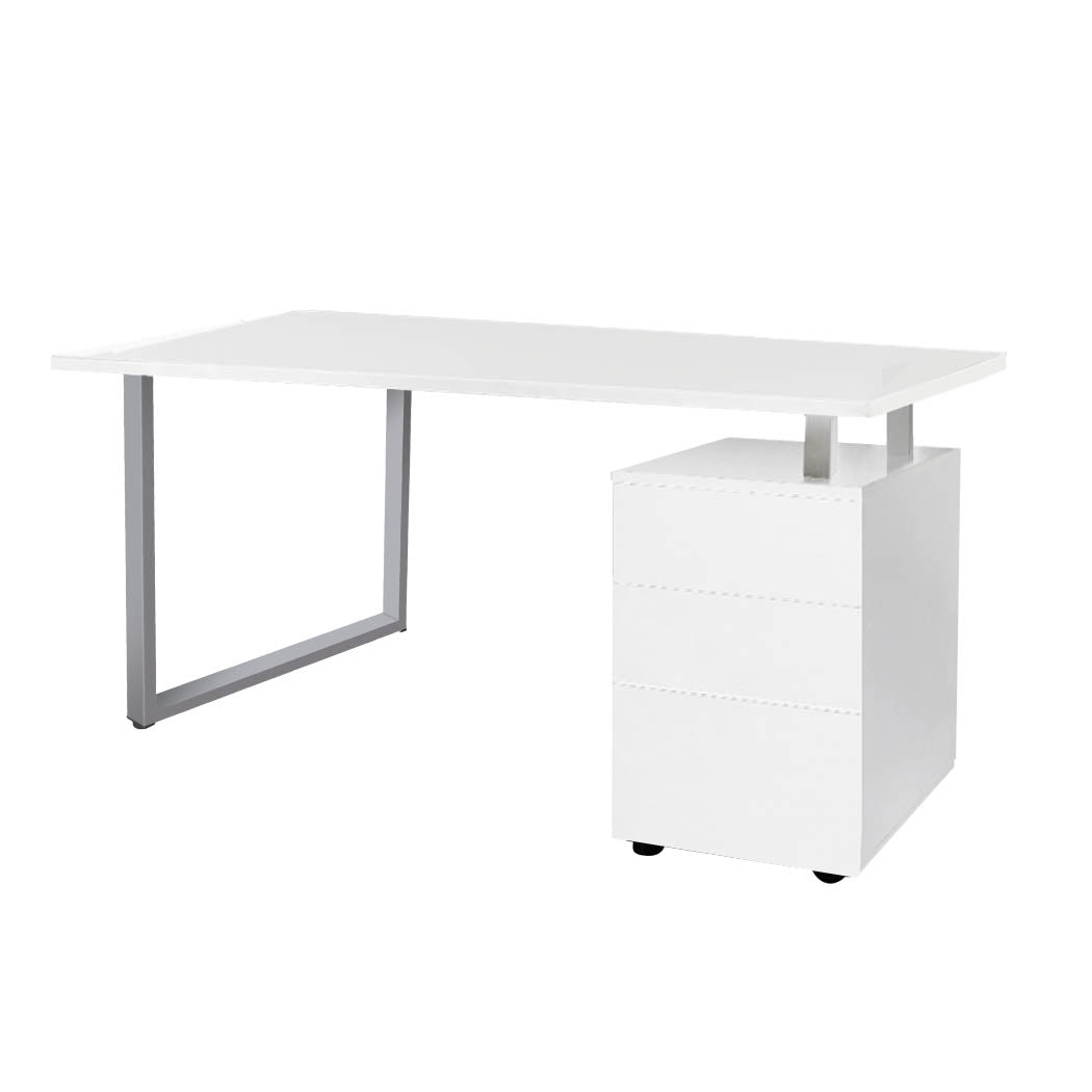 Office Computer Desk Student Laptop Study Table Home Workstation Shelf Desks White
