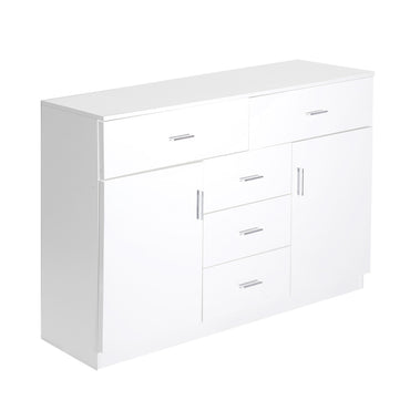 Levede Buffet Sideboard Storage Cabinet Modern High Gloss Cupboard Drawers White