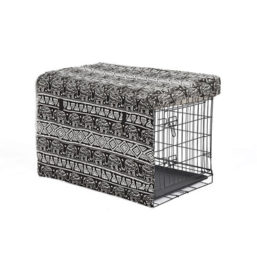 Crate Cover Pet Dog Kennel Cage Collapsible Metal Playpen Cages Covers Black 42""