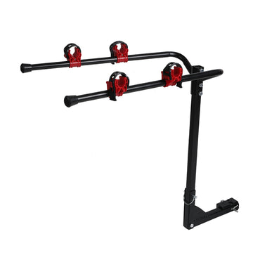 Car Bike Rack Carrier 2 Rear Mount Bicycle Foldable Hitch Mount Heavy Duty
