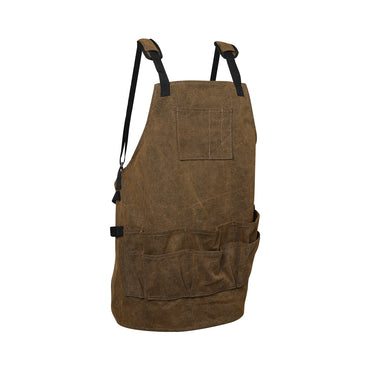 Waxed Canvas Tool Apron Adjustable Workshop Chef Waterproof Woodworking Pockets