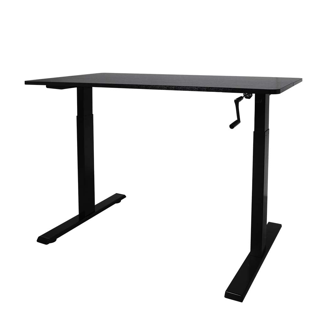 Height Adjustable Desk Office Furniture Manual Sit Stand Table Riser Home Study