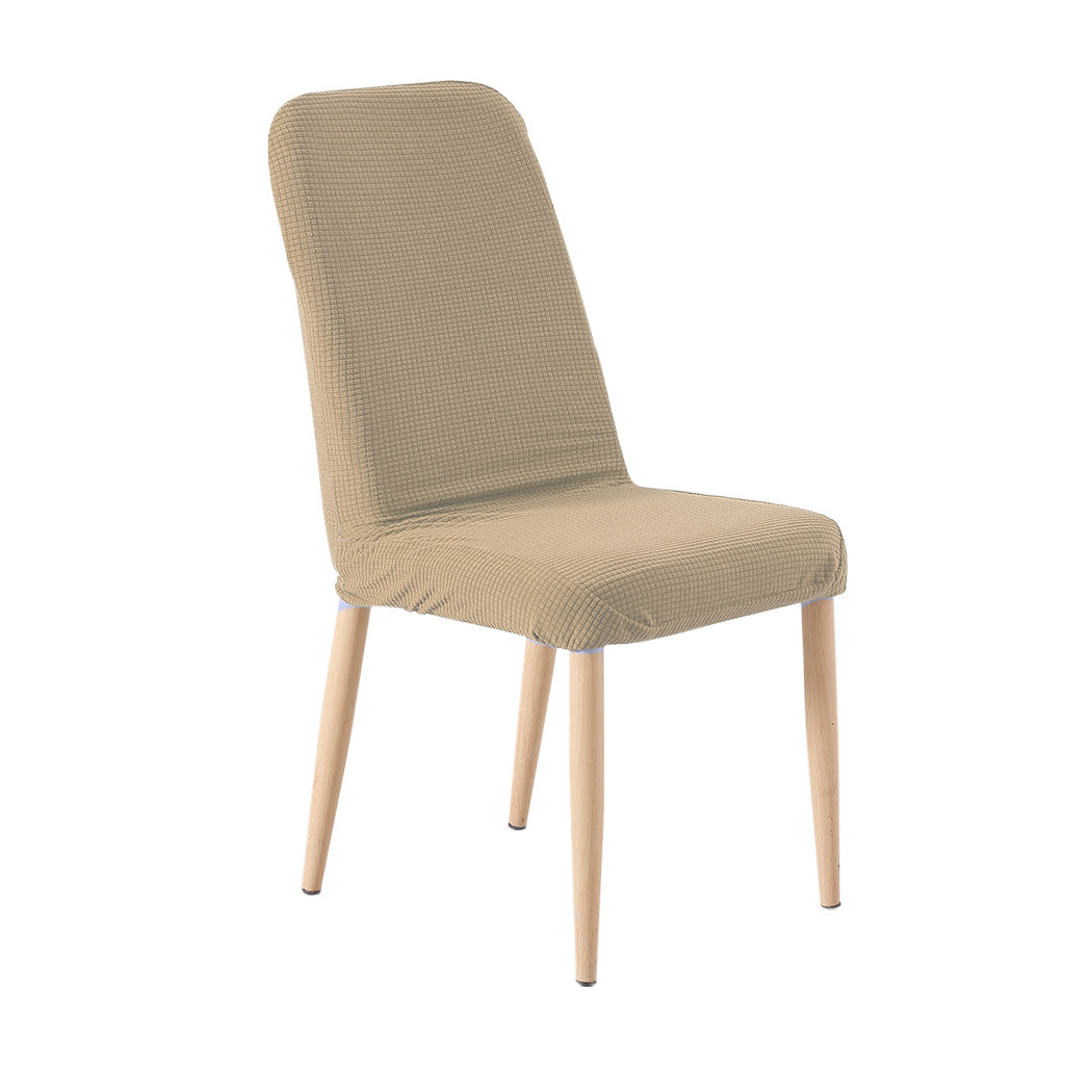 2x Dining Chair Covers Spandex Cover Removable Slipcover Banquet Party Khaki