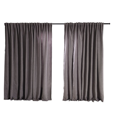 2X Blockout Curtains Curtain Living Room Window Grey 240CM x 230CM