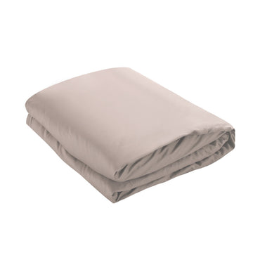 DreamZ 121x92cm Cotton Anti Anxiety Weighted Blanket Cover Protector Beige