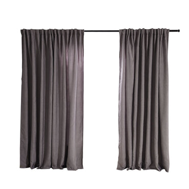 2X Blockout Curtains Curtain Living Room Window Grey 140CM x 230CM